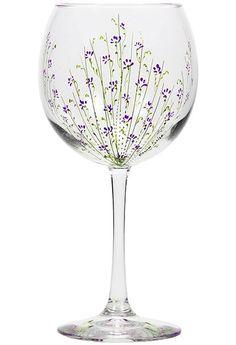 Hand Painted Wine Glasses   Food