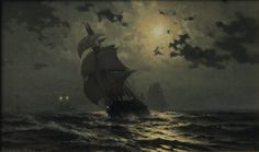 Edward Moran - Moonlight