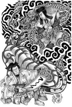 Unryu Kuro and Toraomaro Hayakaze by Eino Laitinen