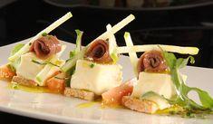Perfecto de queso semicurado de Las Garmillas con anchoas y albahaca. Solana Restaurante, Ampuero  | Cantabria | Spain