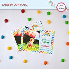 Arcoiris: tarjeta con foto