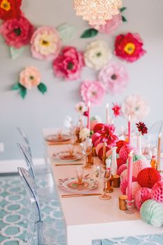 Photography: Cameron Ingalls - www.cameroningalls.com  Read More: http://www.stylemepretty.com/2014/02/12/diy-flower-wall-bridesmaids-party/
