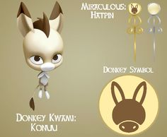 Donkey Miraculous by on DeviantArt Miraculous Kwami, Miraculous Ladybug Wallpaper, Miraculous Ladybug Fan Art, Ladybug And Cat Noir, Meraculous Ladybug, Ladybug Comics, Tikki Y Plagg, Miraculous Characters, Mythical Creatures