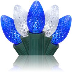 c7 blue cool white commercial led christmas lights