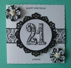 Bizzie Lizzie Cards: 21st Birthday Card