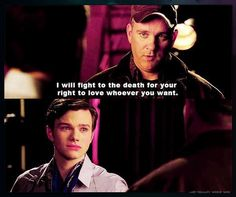 Burt is the most underappreciated character on the whole show. I love the Kurt and Burt scenes.
