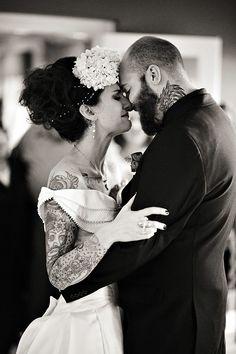 Tattooed Bride - Philadelphia Wedding Photographer - Allebach Photography