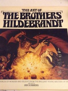 1979 The Art Of The Brothers Hildebrandt Fantasy English Hardcover Illustrated  One of the books in my collection - they inspired me.