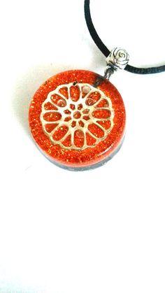 Orgonite pendant-shungit-Wheel of by ORGONITHEKA on Etsy