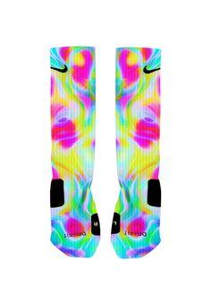 Custom Colorful Color Run Socks Custom Nike by NikkisNameGifts, $20.00