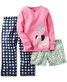 Carter's Baby Girls' 3-Piece Pajamas Set - Kids & Baby - Macy's