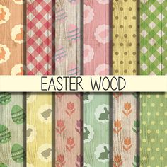 Easter wood digital paper wallpaper clipart by babushkadesign