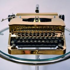 ...gold typewritter...so beautiful.