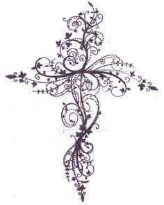 Cross tattoo design by ~Zanie-LArch on deviantART
