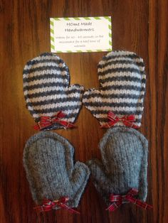 Hand warmers from recycled sweaters