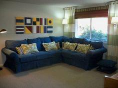 nautical living room on a budget