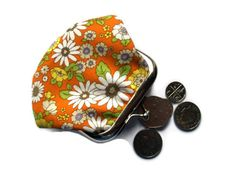 Little Fabric Coin Purse  Flower Garden fabric  by moodycowdesigns, £10.00