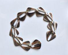 Nils Erik N E FROM Denmark Scandinavian Sterling Silver 925s Modernist Bracelet, $145  https://www.etsy.com/listing/104141949/nils-erik-n-e-from-denmark-scandinavian