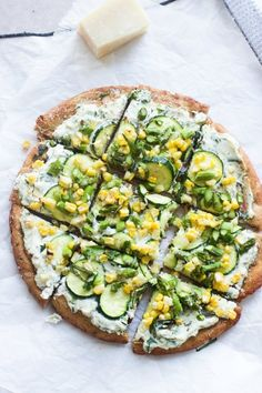 Serve a Spring Skillet Flatbreads With Herbed Ricotta and Homemade Whole-Wheat Crust for dinner using this healthy recipe.