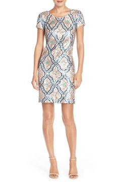 Maia Sequin Mesh Sheath Dress available at #Nordstrom