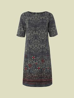 PAISLEY SHIFT DRESS - Loved this dress but spotted it too late as it went out of stock :(  This should have been my Christmas Day dress! #myhappychristmas@whitestuff