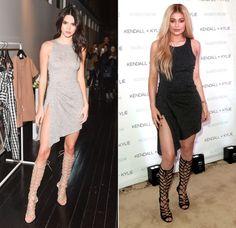 Dass sich zwei Super-Fashionistas wie Kendall und Kylie innerhalb nur eines Monats in nahezu identischen Looks aus ihrer neuen Kollektion erwischen ließen, wundert uns dann aber doch ein bisschen!