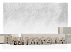 West Elevation -  Oliver Justice #Marseille #Urban Design #Architecture