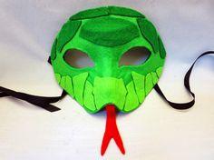 DIY Felt Snake Mask