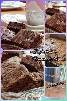 Luftig lockere und saftige Schokoladenwürfel