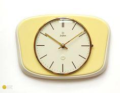 60s Junghans BAUHAUS Ceramic Wall Clock Art Deco Mid Century