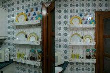 Cómo hacer una alacena con un palet I Cool, Cool Stuff, Cool Pins, China Cabinet, Reuse, Bathroom Medicine Cabinet, Ideas Para, Repurposed, Kitchen Decor