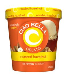 roasted hazelnut gelato by Ciao Bella - amazingly smokey.