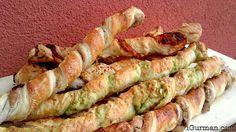 Tyčinky z lístkového cesta ~ TYČINKY Z LÍSTKOVÉHO CESTA  Takéto slané tyčinky, nemusia byť iba slané, sú veľmi obľúbené na rôzne party a popoludňajšie stretnutia. Czech Recipes, Russian Recipes, No Salt Recipes, Asparagus, Ham, Tapas, Appetizers, Baking, Vegetables