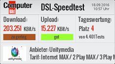 Mein DSL-Speedtest #dsl #speedtest