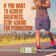 Exactly! You are what you preach. Go out and make it happen! #NDXUSA #WellnessWednesday #Fitnessgoals