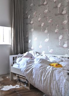 grey and pink #girls #room a few things from my life via 91 magazine