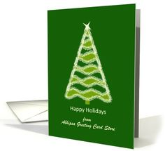 Business happy holidays custom card with Christmas tree card