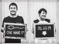 Looking for cool pregnancy announcement ideas? Look what Candice ...