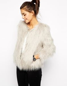 Fluffy and textured jackets are so on trend this season. A cute one like this would look great mixed with tailored pieces. Find it here: http://asos.do/4QUfid
