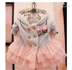 Wholesale baby girl fashion flower jackets kids cute dress coat children trench ZYF1026268, Free shipping, $11.37/Piece | DHgate Mobile