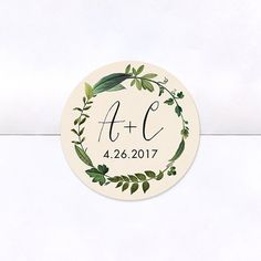 Twig Initials Logo Stickers