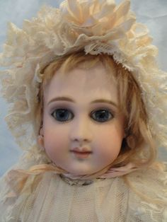 Marvelous 18 Inch Long Face French Schmidt Doll from auntpatsyscottage on Ruby Lane