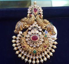 Gold Pendant latest jewelry designs - Page 8 of 29 - Indian Jewellery Designs Indian Wedding Jewelry, Indian Jewelry, Indian Jewellery Design, Jewelry Design, Cz Jewellery, Latest Jewellery, Temple Jewellery, Gold Pendent, Diamond Pendant
