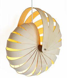 Nautilus light replicates the incredible chambered nautilus...love!
