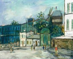 Maurice Utrillo The Moulin De La Galette In Montmartre oil painting reproductions for sale