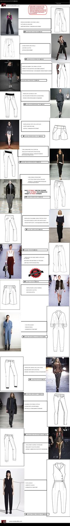 Runway pant shapes