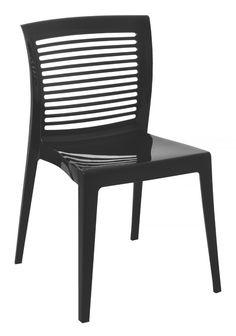 Cadeira Victória Encosto Vazado Horizontal Preta Tramontina 92041/009  - foto principal 1