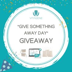 "Hey there!     Have you already entered Vitagene's ""Give Something Away Day"" Giveaway??? They're giving out a FREE DNA Test w/ personalized diet, fitness, skin, & supplement health reports, along with other freebies!     Referring friends increases the chances to win!   Check it out : http://bit.ly/2KRJZsi"