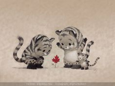 """Fall is coming by imaginism.deviantart.com on @deviantART """"What's little, red and surrounded by tigers?"""""""
