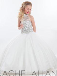 feb975c70d4 Online Shop Halter Beaded Backless Organza Puffy Long Pageant Dresses For  Juniors White First Holy Communion Dresses Vestidos De Daminhas